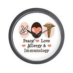 Peace Love Allergy Immunology Doctor Wall Clock
