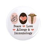 Peace Love Allergy Immunology Doctor 3.5