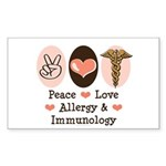 Peace Love Allergy Immunology Sticker 50 Pack