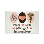 Peace Love Allergy Immunology Magnet 10 Pack