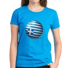 Greece Flag Soccer Ball Tee
