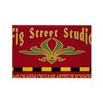 Fig Street Studio Sign Rectangle Magnet (10 pack)