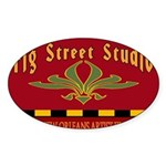 Fig Street Studio Sign Oval Sticker (10 pk)