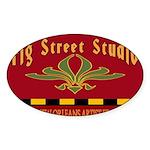 Fig Street Studio Sign Oval Sticker (50 pk)