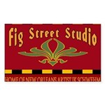 Fig Street Studio Sign Rectangle Sticker 10 pk)