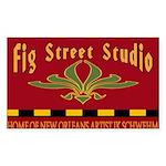 Fig Street Studio Sign Rectangle Sticker 50 pk)