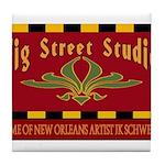 Fig Street Studio Sign Tile Coaster