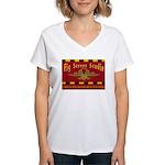 Fig Street Studio Sign Women's V-Neck T-Shirt