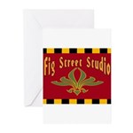 Fig Street Studio Sign Greeting Cards (Pk of 10)