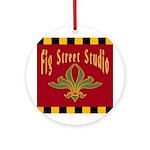 Fig Street Studio Sign Ornament (Round)