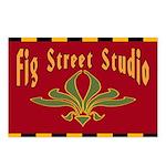 Fig Street Studio Sign Postcards (Package of 8)
