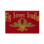 Fig Street Studio Sign Rectangle Magnet