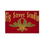 Fig Street Studio Sign Rectangle Magnet (100 pack)