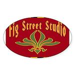 Fig Street Studio Sign Oval Sticker