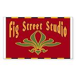 Fig Street Studio Sign Rectangle Sticker