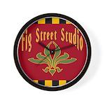 Fig Street Studio Sign Wall Clock