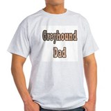 GREYHOUND DAD ASH GREY TEE