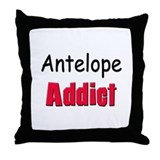 Antelope Addict Throw Pillow
