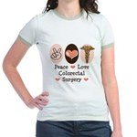 Peace Love Colorectal Surgery Jr. Ringer T-Shirt