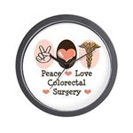 Peace Love Colorectal Surgery Wall Clock