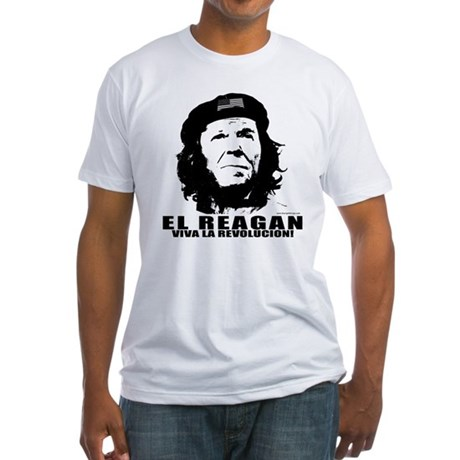El Reagan Viva Revolucion Fitted T-Shirt