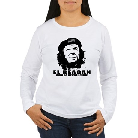 El Reagan Viva Revolucion Women's Long Sleeve T-Sh