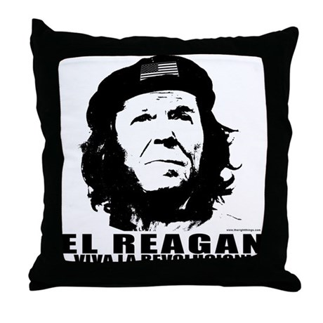 El Reagan Viva Revolucion Throw Pillow