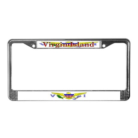 Virgin Islands Flag License Plate Frame
