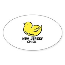 New Jersey Chick Oval Decal