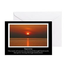 Success Sunset Motivational Greeting Card