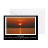 Success Sunset Motivational Greeting Cards (Pk of