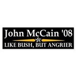 McCain: Like Bush, But Angrier Sticker