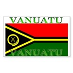 Vanuatu Vanuatuan Flag Rectangle Sticker