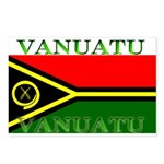 Vanuatu Vanuatuan Flag Postcards (Package of 8)