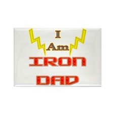 I am IronDad Rectangle Magnet (100 pack)