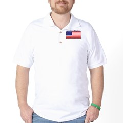 USA American Flag Golf Shirt