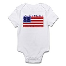 USA American Flag Infant Bodysuit