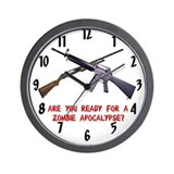 Are you Ready-Zombie Apocalypse Wall Clock