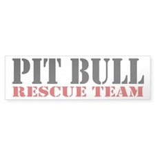 PitBull Rescue Team Bumper Bumper Sticker