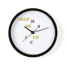 Help Me I'm Manic Wall Clock
