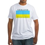 Ukraine Ukrainian Flag Fitted T-Shirt