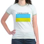 Ukraine Ukrainian Flag Jr. Ringer T-Shirt