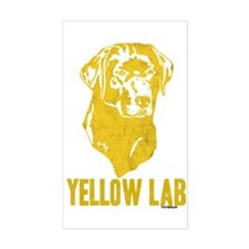 Yellow Lab Rectangle Decal