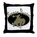 Bronco Buster Throw Pillow