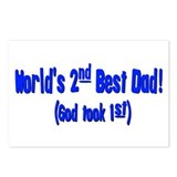 World's 2nd Best Dad (God too Postcards (Package o