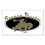 Bronco Buster Rectangle Sticker