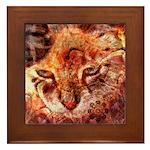 Wood Cat Framed Tile