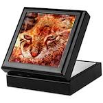 Wood Cat Keepsake Box