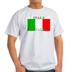 Italy Italian Flag Ash Grey T-Shirt