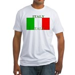 Italy Italian Flag Fitted T-Shirt